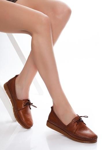 Efem Deri Ayakkabı Taba